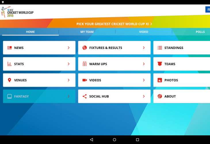 ... See: ICC World Twenty20 India 2016 app update for live cricket score